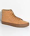 Vans Sk8-Hi Vansbuck zapatos de skate en marrón