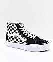 Vans Sk8-Hi zapatos de skate con plataforma de cuadros