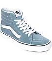 Vans Sk8-Hi zapatos de skate en gris azul y blanco