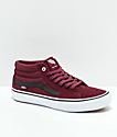 Vans Sk8-Mid Pro Port Royale White Skate Shoes