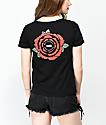 Vans Skimmer Red Rose camiseta negra