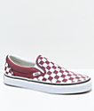 Vans Slip-On Apple & White Checkered Skate Shoes