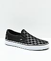 Vans Slip-On Black & Grey Checkerboard Skate Shoes