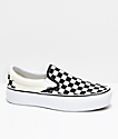 Vans Slip-On Black & White Checkered Platform Skate Shoes