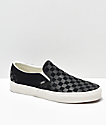 Vans Slip-On Black & White Embossed Checkerboard Skate Shoes