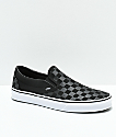 Vans Slip-On Black Checkerboard Skate Shoes