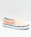 Vans Slip-On Bleached Apricot zapatos de skate a cuadros