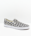 Vans Slip-On Blur Black & White Checkerboard Skate Shoes