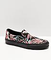 Vans Slip-On California Floral Black Skate Shoes