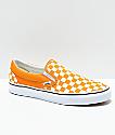 Vans Slip-On Cheddar & White Checkerboard Skate Shoes