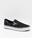 Vans Slip-On Comfy Cush Black & White Skate Shoes