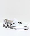 Vans Slip-On DIY White & Black Skate Shoes