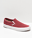 Vans Slip-On Dark Pink & White Skate Shoes
