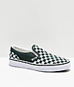Vans Slip-On Forest Green & White Checkerboard Vans