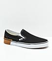 Vans Slip-On Gum Block Black Skate Shoes