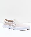 Vans Slip-On Moonbeam & White Embossed Skate Shoes