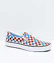 Vans Slip-On Pro Blue, Rust & Off-White Skate Shoes