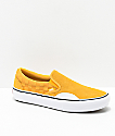 Vans Slip-On Pro Hairy Banana Yellow Checkerboard Skate Shoes