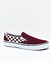 Vans Slip-On Pro Port Royal zapatos de skate a cuadros en rojo y blanco