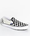 Vans Slip-On Pro zapatos de skate a cuadros en blanco y negro