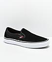 Vans Slip-On Pro zapatos de skate en negro, blanco y goma