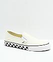 Vans Slip-On SF Classic zapatos de skate de lienzo blanco a cuadros