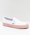 Vans Slip-On SF Evening Sand zapatos de skate en blanco