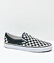 Vans Slip-On Scarab zapatos de skate a cuadros en verde y blanco