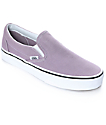Vans Slip-On Sea Fog & True White Skate Shoes