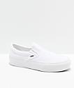 Vans Slip-On True White Platform Skate Shoes