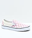 Vans Slip-On Zephyr zapatos de skate a cuadros en rosa y blanco