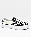 Vans Slip-On zapatos de skate con plataforma a cuadros en negro y blanco