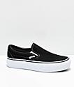 Vans Slip-On zapatos de skate con plataforma en negro y blanco
