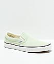 Vans Slip-On zapatos de skate en verde pastel