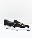 Vans Slip-On zapatos skate de cuadros y flores