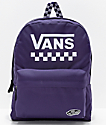 Vans Sporty Realm Purple Chekerboard Backpack