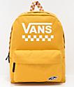 Vans Sporty Realm mochila amarilla a cuadros