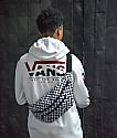 Vans Striped Drop V White Hoodie