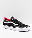 Vans TNT ADV Prototype Black, White & Red Skate Shoes