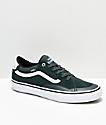 Vans TNT ADV Prototype Dark Spruce Green & White Skate Shoes