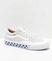 Vans TNT ADV Prototype Marshmallow White & Checkerboard Skate Shoes