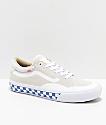 Vans TNT ADV Prototype Marshmallow zapatos de skate blancos a cuadros