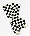 Vans Ticker calcetines de cuadros en blanco y negro
