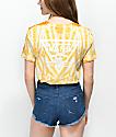 Vans Triangle Yellow Cloudwash Boyfriend T-Shirt