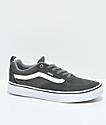 Vans Walker Pro Gunmetal, Grey and White Skate Shoes