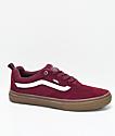 Vans Walker Pro zapatos de skate de color borgoño y goma