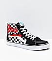 Vans x David Bowie Sk8-Hi Bowie Check Black & White Skate Shoes
