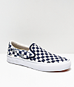 Vans x Independent Slip-On Pro Blue & White Checkerboard Skate Shoes