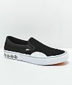 Vans x Independent Slip-On Pro zapatos de skate en negro y blanco