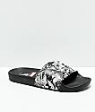 Vans x Marvel Black & White Slide Sandals